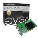 EVGA GeForce 6200 512 MB DDR2 PCI 2.1 VGA/DVI-I/S-Video Graphics Card, 512-P1-N402-LR