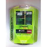 Kingston 2GB 667MHz DDR2 Non-ECC CL5 SODIMM Notebook Memory (Pack of 2, 1Gb Each) (KVR667D2K2SO/2GR)