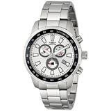 Invicta Men's 1554 Specialty Chronograph Silver-Tone Dial Stainless Steel Watch