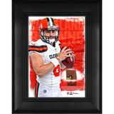 """Baker Mayfield Cleveland Browns Framed 5"""" x 7"""" Player Collage with a Piece of Event-Used Football"""