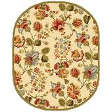 Safavieh Chelsea Collection HK331A Hand-Hooked French Country Wool Area Rug, 4' x 4' Round, Ivory