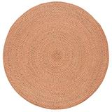 Safavieh Braided Collection BRD166A Handmade Country Cottage Reversible Cotton Area Rug, 6' x 6' Round, Multi