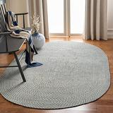Safavieh Braided Collection BRD170A Handmade Country Cottage Reversible Cotton Area Rug, 5' x 8' Oval, Multi