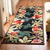 """Safavieh Chelsea Collection HK296A Hand-Hooked French Country Wool Runner, 2'6"""" x 12' , Black"""