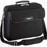 Targus Traditional Notepac Case Messenger Bag with Business Workspace Compartment for File Organization, Removable Shoulder Strap, Trolley Strap, Padded Protection fits 15.6-Inch Laptop, Black (OCN1)