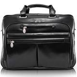 "McKleinUSA ROCKFORD 86515 Black Leather 17"" Laptop Case"