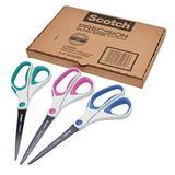 Scotch Precision Ultra Edge Scissors, 8 Inch, 3-Pack (1458-3AMZ-ESF)