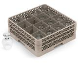 Vollrath TR8DD Traex? Glass Rack w/ (16) Compartments - (2) Extenders, Beige
