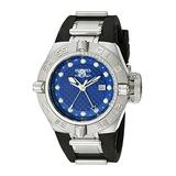 Invicta Men's 1155 Subaqua Noma IV GMT Blue Dial Black Polyurethane Watch