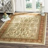 """Safavieh Lyndhurst Collection LNH214R Traditional Oriental Non-Shedding Stain Resistant Living Room Bedroom Area Rug, 5'3"""" x 7'6"""", Ivory / Rust"""