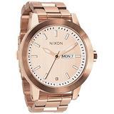 NIXON Men's Stainless Steel Analog Quartz Watch Strap, Rose Gold (Model: A263-897)
