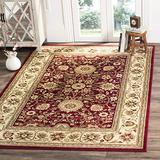 """Safavieh Lyndhurst Collection LNH212F Traditional Oriental Non-Shedding Stain Resistant Living Room Bedroom Area Rug, 5'3"""" x 7'6"""", Red / Ivory"""