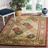 Safavieh Lyndhurst Collection LNH221B Traditional Oriental Non-Shedding Stain Resistant Living Room Bedroom Area Rug, 6' x 9', Multi / Red