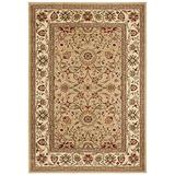 """Safavieh Lyndhurst Collection LNH212D Traditional Oriental Non-Shedding Stain Resistant Living Room Bedroom Area Rug, 5'3"""" x 7'6"""", Beige / Ivory"""