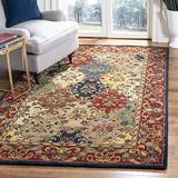 Safavieh Heritage Collection HG911A Handmade Traditional Oriental Premium Wool Area Rug, 5' x 8', Multi / Burgundy