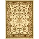 Safavieh Lyndhurst Collection LNH211A Traditional Oriental Non-Shedding Stain Resistant Living Room Bedroom Area Rug, 4' x 6', Ivory / Tan