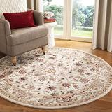 Safavieh Chelsea Collection HK78C Hand-Hooked French Country Wool Area Rug, 4' x 4' Round, Ivory / Ivory