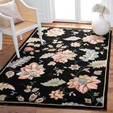 """Safavieh Chelsea Collection HK306B Hand-Hooked French Country Wool Area Rug, 3'9"""" x 5'9"""", Black"""