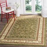 Safavieh Lyndhurst Collection LNH331C Traditional Oriental Non-Shedding Stain Resistant Living Room Bedroom Area Rug, 4' x 6', Sage / Ivory