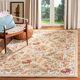 """Safavieh Chelsea Collection HK141A Hand-Hooked French Country Wool Runner, 2'6"""" x 10' , Ivory"""