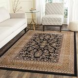 """Safavieh Lyndhurst Collection LNH331D Traditional Oriental Non-Shedding Stain Resistant Living Room Bedroom Area Rug, 3'3"""" x 5'3"""", Black / Tan"""
