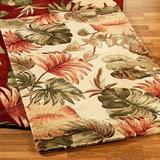 "Palm Leaf Rectangle Rug Beige, 7'9"" x 9'6"", Beige"