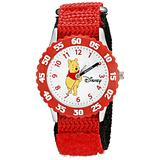 Disney Kids' W000099 Winnie the Pooh & Friends Stainless Steel Time Teacher Watch