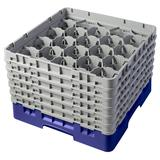 Cambro 20S1114186 Camrack? Glass Rack w/ (20) Compartments - (6) Gray Extenders, Navy Blue