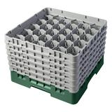 Cambro 30S1114119 Camrack? Glass Rack w/ (30) Compartments - (6) Gray Extenders, Sherwood Green