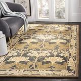 "Safavieh Anatolia Collection AN541A Handmade Traditional Oriental Premium Wool Area Rug, 9'6"" x 13'6"", Navy / Sage"