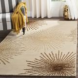 Safavieh Soho Collection SOH712A Handmade Starburst Premium Wool & Viscose Area Rug, 8' x 8' Square, Beige