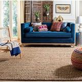 Safavieh Natural Fiber Collection NF447A Handmade Chunky Textured Premium Jute 0.75-inch Thick Area Rug, 8' x 8' Square, Natural