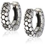 Zina Sterling Silver Stingray-Texture Hoop Earrings