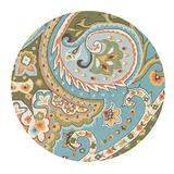 """Loloi FRANCESCA Area Rug, 3'-0"""" by 3'-0"""" Round, Blue/Green"""