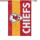 "Kansas City Chiefs 28"" x 44"" Double-Sided Embellish House Flag"
