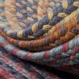 Colonial Mills Rustica Hand-Braided Wool Audubon Russet Area Rug Wool in Brown, Size 60.0 H x 60.0 W x 0.5 D in   Wayfair RU70R060X060