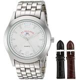 U.S. Polo Assn. Classic Men's US2040 Silver-Tone Watch with Two Interchangeable Straps