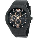 Nautica Men's N21009G NMC 200 Multifunction Black Ion-Plated Watch