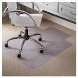 ES Robbins Corporation Low Pile Carpet Straight Standard Lip Chair Mat in White, Size 0.25 H x 36.0 W x 48.0 D in   Wayfair ESR120023