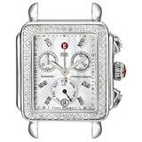 MICHELE Women's MW06P01A1046 Deco Diamond-Accented Stainless Steel Watch Head