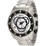 Invicta Men's 1881 Reserve Chronograph Silver Dial Stainless Steel Watch