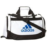 adidas Defender Small Duffel, One Size/11 3/4 x 20 1/2 x 11-Inch, White/Prime Blue
