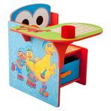 Delta Children Sesame Street Desk Chair w/ Storage Compartment & Cup Holder Wood in Brown, Size 23.0 H x 20.0 W x 22.75 D in | Wayfair TC83927SS