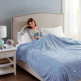 Beautyrest Electric Heated Channel Blanket, Queen, Beige
