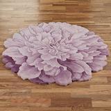 Delia Bloom Round Rug Lavender, 4' Round, Lavender