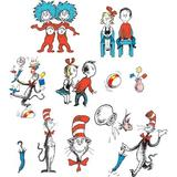 Eureka Classroom Cat in The Hat Characters 2 Sided Bulletin Board Cut Out in Blue/Orange/Red, Size 18.5 H x 13.0 W x 0.03 D in | Wayfair EU-840224