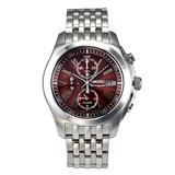 Seiko Men's SNAE51 Chronograph Stainless Steel Brown Dial Watch