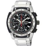 Seiko Alarm Chronograph Black Dial Men's watch #SNAD47P1