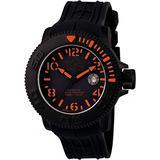 Invicta 1076 Men's Invicta Ii Automatic Black Dial Black Polyurethane Watch