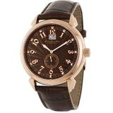 Stuhrling Original Men's 50D.3345K59 Eternal Sunrise Swiss Quartz Chronograph Brown Watch